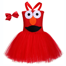 Red Cookies Monster Onesie Halloween Cookie Pattern Tutu Dress Baby Girl Birthday Party for Kids Fancy Girls Clothes
