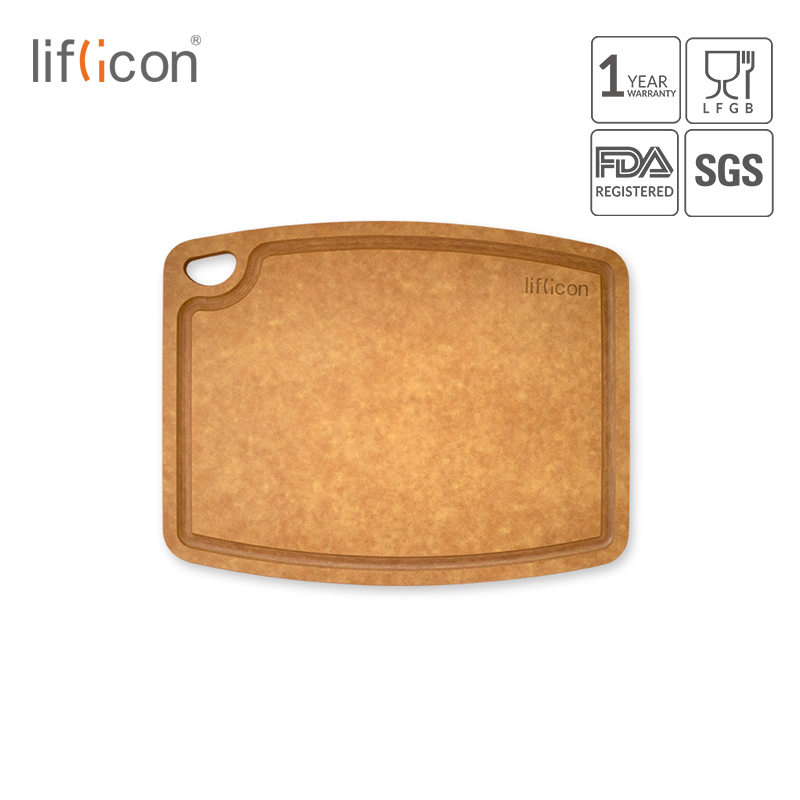 Liflicon Large Cutting Board Natural Wood Fiber Cutting Mats Non-Slip for Meal Prep Kitchen Chopping Boards Kitchen Tools(China)