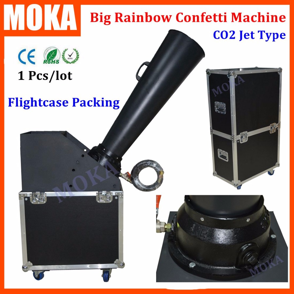 Flight Case Packing CO2 jet Confetti Machine stage FX Eject 15m hand control Rainbow Paper Machine Aluminium Cast co2 gas cannon цены онлайн