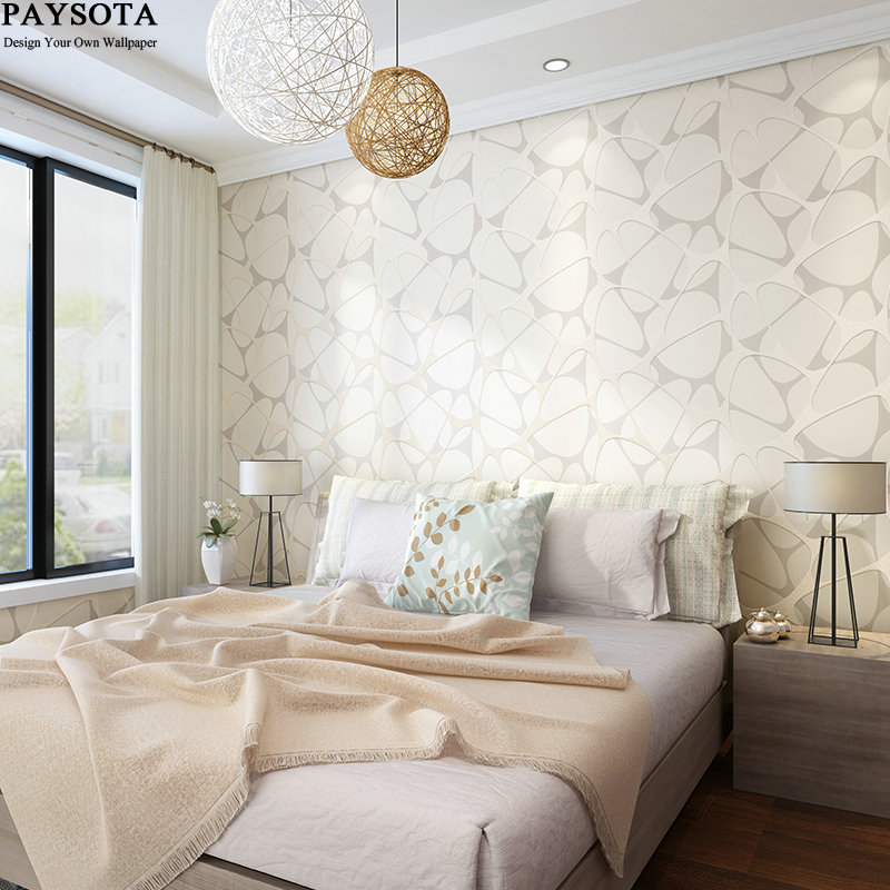 PAYSOTA New Abstract Geometric Wallpaper Roll Modern Wood Fiber For Walls 3 D Wallpapers In Rolls For Living Room Bedroom shinehome abstract brick black white polygons background wallpapers rolls 3 d wallpaper for livingroom walls 3d room paper roll