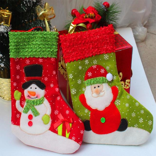 12pcslot wholesale christmas stocks christmas gift bag christmas decorations supplies christmas items santa claus - Wholesale Christmas Decorations