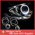 Transferência Gratuita de 4 PCS * 131 MM CCFL Angel Eyes Lâmpada LED Kit Para 3 E36 E38 E39 7 5 E46 Cor Branca