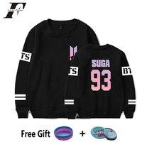 2018 BTS Kpop Capless Oversized Hoodies Sweatshirts Women Bangtan Boys Bts Album Love Yourself DNA Kpop