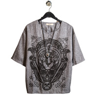 Half Sleeve Linen T Shirt Men Casual Lion Printted Mens Clothing Fashion 2017 Summer Loose T