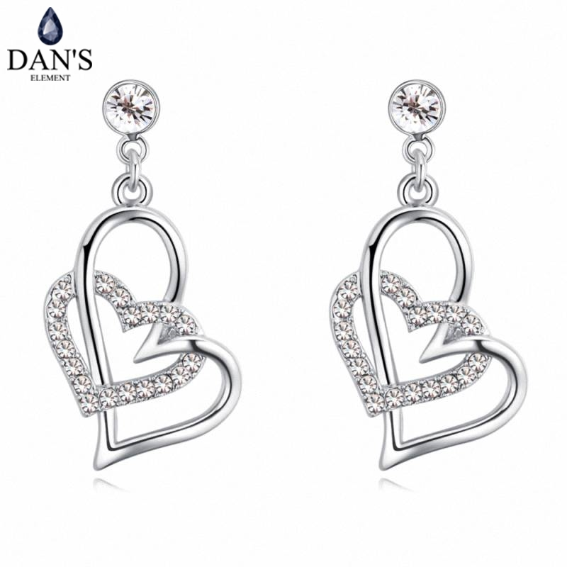 DANS 5 Colors Real Austrian crystals Stud earrings for women Earrings s New Sale Hot Round 129554