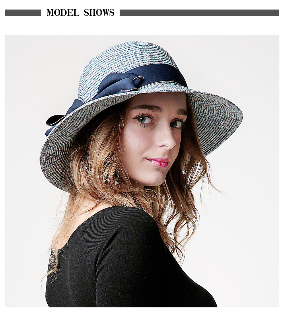 Sedancasesa HOT summer large brim straw hat adult fashion sun hat uv  protect bow summer beach hats for women grils floppy capsUSD 16.99 piece 628920b8fecc