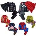 2-10años Niños Spiderman Trajes Pijamas Pijamas de los Muchachos de Navidad Conjuntos de Pata de Perro de Dibujos Animados Pijama Kids Enfant Iron Man Ropa de Marcas