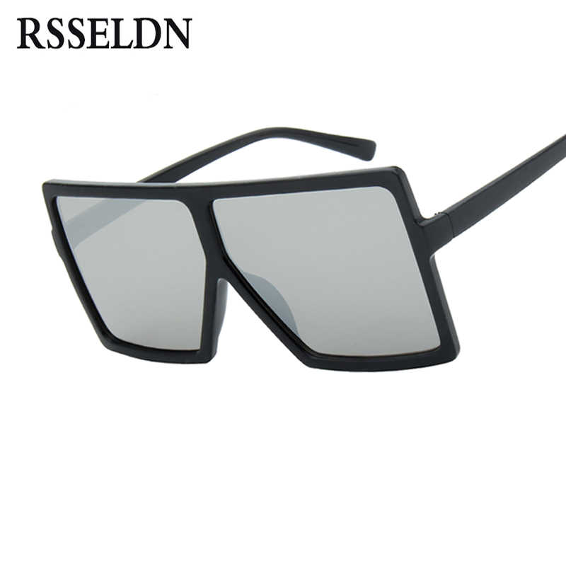 503df70daa ... RSSELDN Oversized Sunglasses Women Big Frame Square Sun Glasses Men  Brand Designer 2019 New Vintage Gradient ...