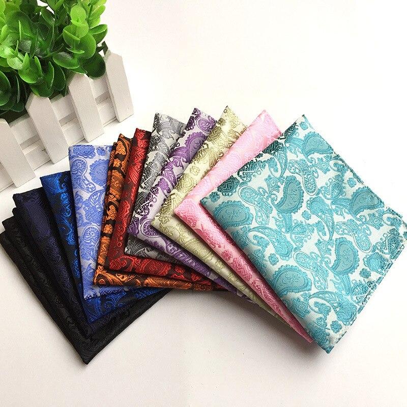 Fashion Men's Handkerchief Square 2020 Explosion Models Polyester Material Fashion Dot Big Wave Point Suit Pocket Towel