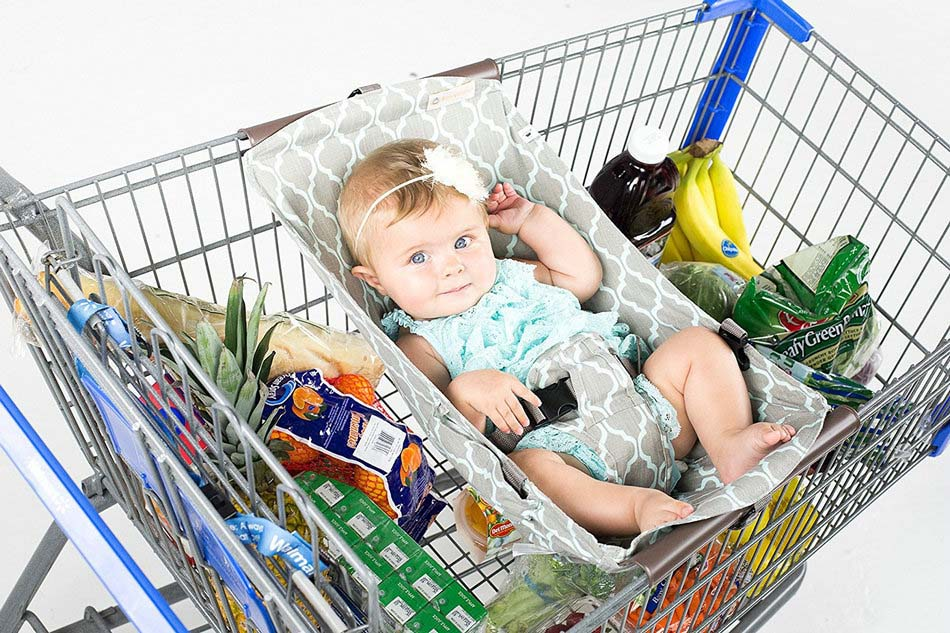 Infant Sling Outdoor Shopping Cart Baby Carrier Sling Baby Children Folding Shopping Cart Cover Cushion