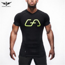 2017 splicing Simple Atmosphere Men T-shirt Colorful Men Clothing Fashion Fitness Body Building Male Shirt Short Sleeves Summer