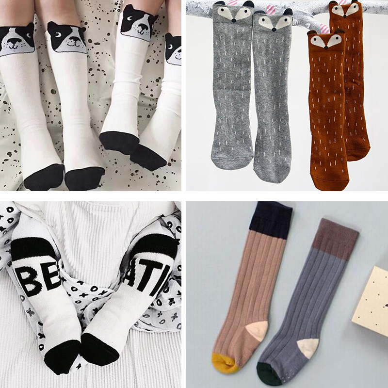 Baby Cheap China Baby Middle Tube Socks Kids Long Tube Long Socks Boys Girls Cotton Floor Socks Maka Kids KIKIKIDS Knee Sock