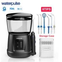 Waterpulse V700P przenośny flosser irygator wodny Oral Orrigator irygator do zębów higiena jamy ustnej woda nawadnianie ustne z osłoną przeciwpyłową