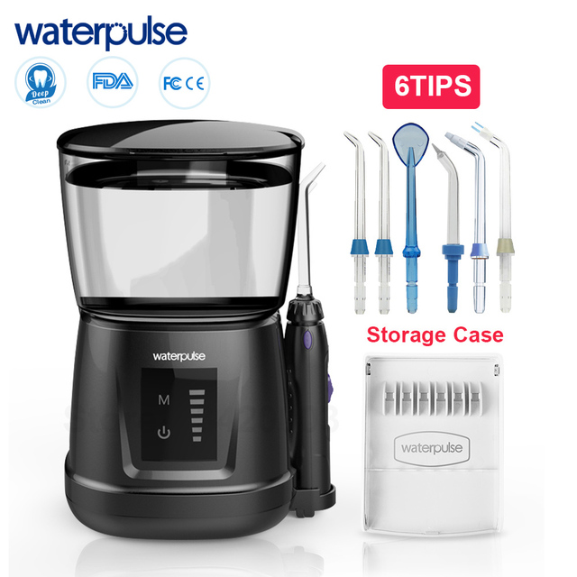 Waterpulse hydropulseur de fil deau Portable, pour les dents, hygiène buccale, hygiène buccale, avec couvercle anti poussière, V700P