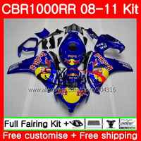 Bodys For HONDA CBR1000 RR CBR 1000 RR 08 11 59HS7 CBR1000RR Hot sale blue 08 09 10 11 CBR 1000RR 2008 2009 2010 2011 Fairings