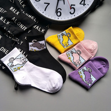 US $1.08 32% OFF|Japan Harajuku women cute cartoon Animal  cat cotton socks handsome men funny novelty creative unisex socks-in Socks from Underwear & Sleepwears on AliExpress