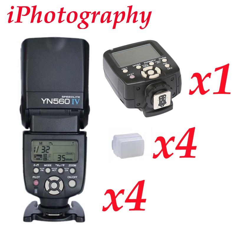 Yongnuo YN560TX LCD Wireless Flash Controller+ 4Pcs YN560 IV Flash kit For Nikon yongnuo yn560tx lcd wireless flash controller 3pcs yn560 iv flash kit for nikon