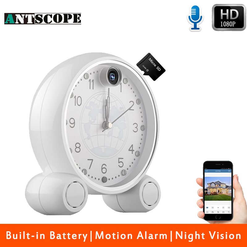 Фотография Antscope Remote Clock HD 1080P 2MP IP Network WIFI Security CCTV Camera Infrared Indoor Motion Detection Surveillance Cameras