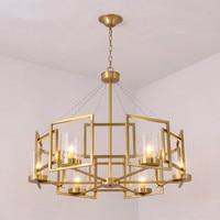 Modern Golden Loft Iron LED Chandelier Lighting Lustre Bedroom Pendant Lamps Lights Hanging Deco Lighting Kitchen Fixtures Avize