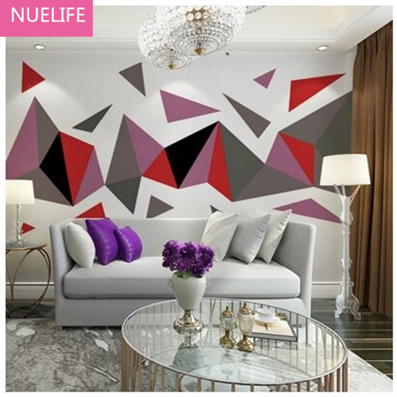 0.53x10m Nordic Abstract Geometric Wallpaper Living Room Bedroom Office Study room TV Background  Non-woven Wallpaper N40.53x10m Nordic Abstract Geometric Wallpaper Living Room Bedroom Office Study room TV Background  Non-woven Wallpaper N4