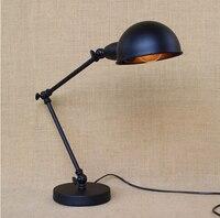 Loft Style Vintage Industrail LED Desk Lamp Metal Simple Adjustable Table Lamp For Cafe Study Room Bar Light Luminaria De Mesa