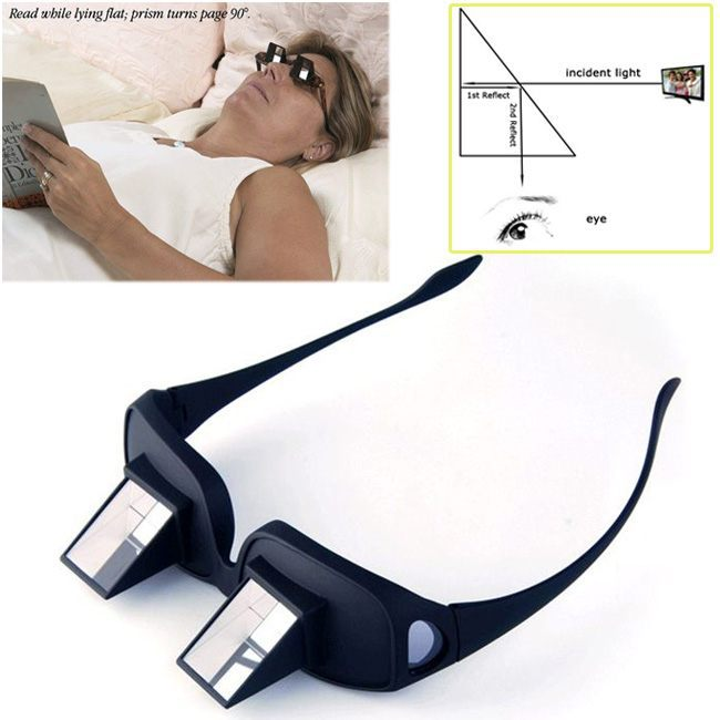c95c273f8d6c Prism Bed Laying TV Book Reading Glasses Lazy Creative Periscope Eyeglasses  Free Ship