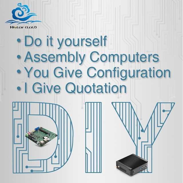 DIY Mini-PC Difference Price Link for CPU RAM SSD HDD Network WIFI HDMI+VGA Bluetooth COM Fan/Fanless