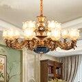 Люстры для гостиной  люстра из матового стекла  Современная Большая роскошная вилла  лобби  люстры