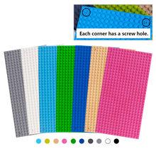 16*32 pontos placa base para tijolos pequenos 10 cores placa de base diy blocos de construção brinquedos para crianças compatíveis