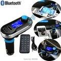 Smartphone Bluetooth Kit mãos livres MP3 Player transmissor FM Handsfree carregador Dual USB com Micro SD / leitor de cartão TF