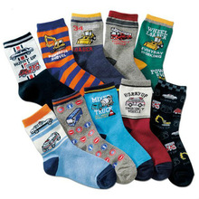 Children Wit Autumn Winter New Hot Kids Socks Cotton Cartoon Car Animal Pattern Boy Socks 3-16 years Girl Socks 10 Pairs / lot