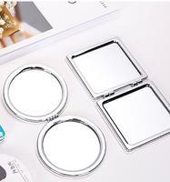 Specchio per il trucco Rotonda Mini Pocket Bifacciale Fodable Cosmetici