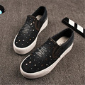 Women Fashion Canvas Casual Denim Shoes 2017 New Spring Autumn Crystal Rivet Low-cut Cowboy Shoe Zapatos Mujer