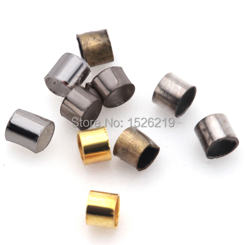 200pcs/lot Antique Bronze/Silver/Rhodium/Gold Color Metal Crimps End Beads Spacer Beads 1.5mm for DIY Jewelry Findings Making цена