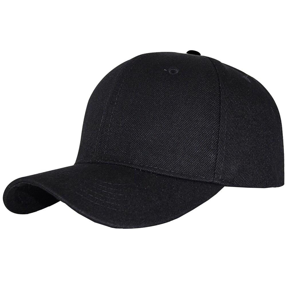Men Women Adjustable Pure Color Blank Curved Plain Baseball Cap Visor Sun Hat UK