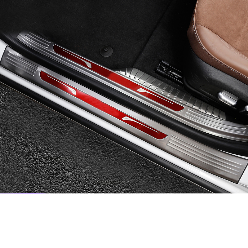 Lsrtw2017 Stainless Steel Car Door Anti scratch Sill Threshold Strip Trims for Buick Regal Opel Insignia 2018 2019 2020 in Interior Mouldings from Automobiles Motorcycles