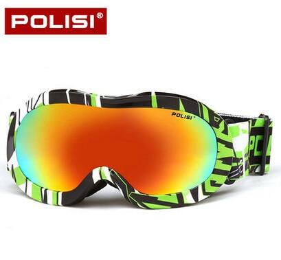 Prix pour POLISI Enfants Snowboard Lunettes de Ski de Neige Lunettes Lunettes De Protection Double Anti-Brouillard UV400 Anti-Brouillard Lunettes