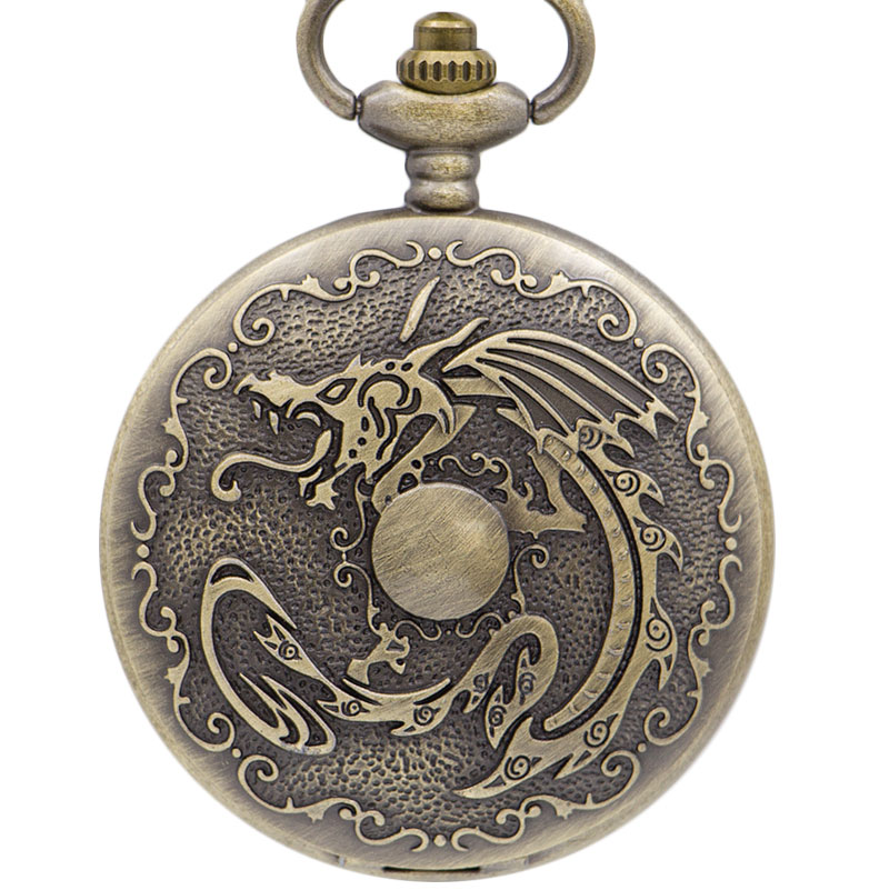 2019 New Bronze Vintage Retro Quartz Pocket Watch Necklace Chain Pendant Men Women's Clock Ladies Female Watches Gift