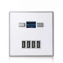 New Arrival High Quality 4-PORT quick charger home use wall socket Power USB Electrical Outlet 86*86mm 4000MA