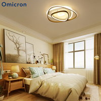 Omicron Modern LED Chandeliers Triangle Brown Frame Lamp Bedroom Living Room Dining Room Nordic Chandeliers Home Luminaire