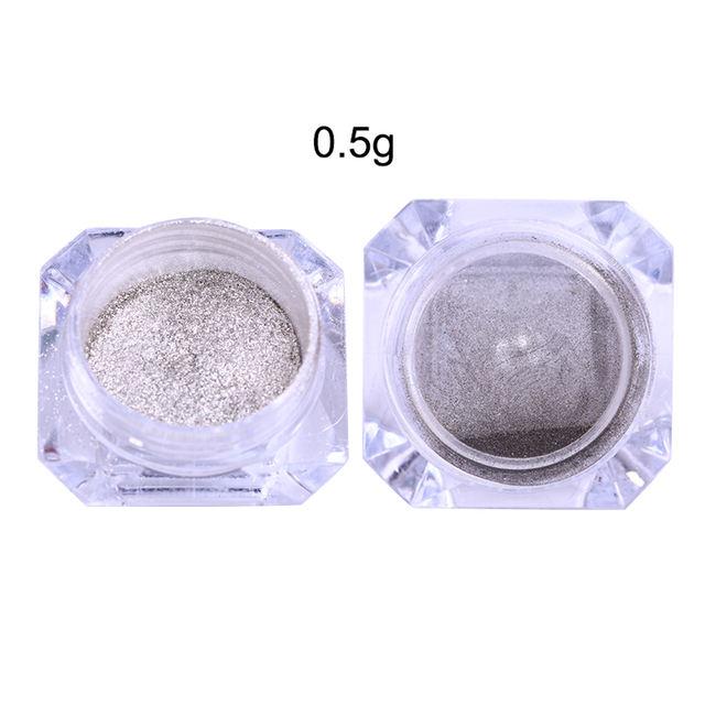 1Box Silver Nail Chrome Powder