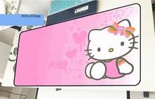 Hello kitty геймерский коврик для мыши xl 800x400x2 мм игровой коврик для мыши большой красочный ноутбук аксессуары для ПК ноутбук padmouse эргономичный коврик