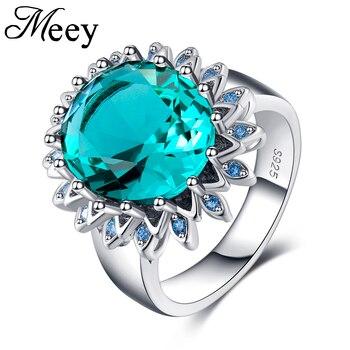 5198d4459e82 Mejor venta estándar de 925 de plata esterlina anillo de dama calidad  Esmeralda moda clásico compromiso aniversario regalo fiesta
