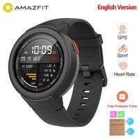 Original Amazfit Verge 3 Smart Watch GPS Smartwatch Bluetooth 4.2 Answer Call IP68 Waterproof Heart Rate Monitor English Version