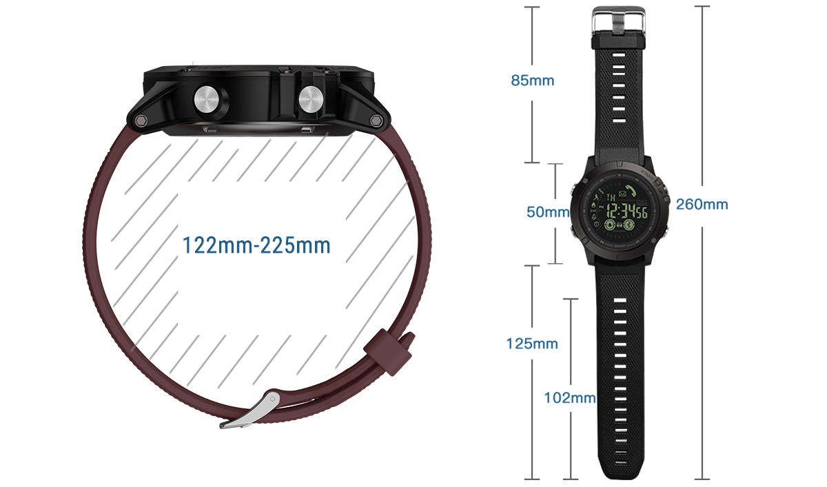 Rugged Smartwatch 24h Time 13