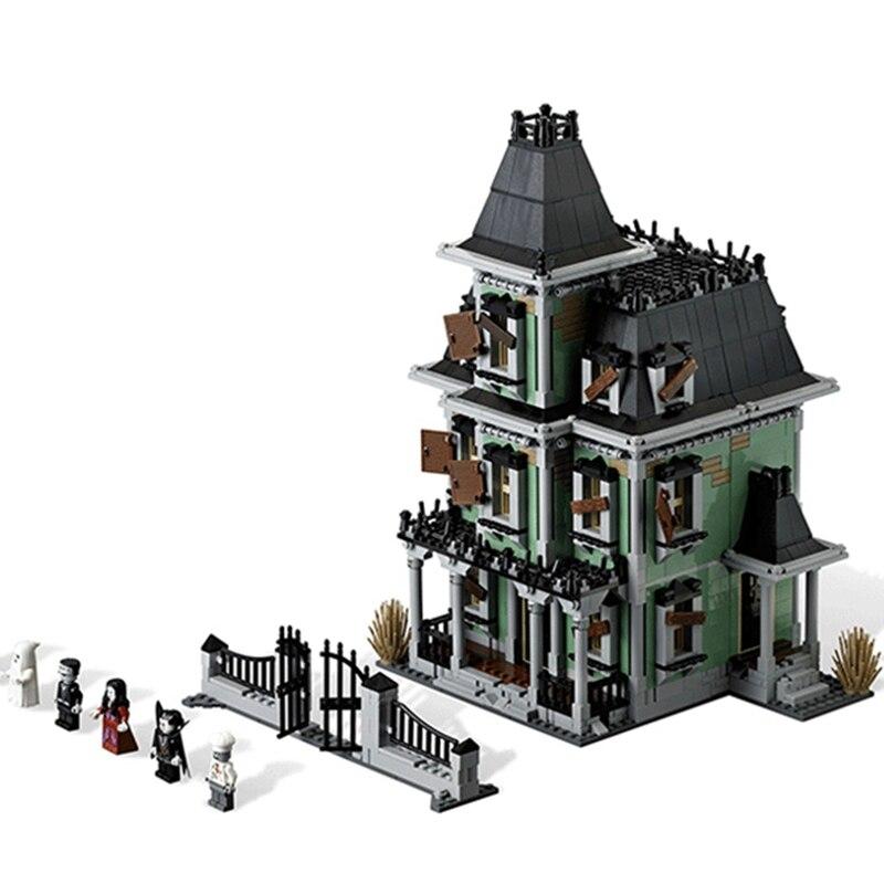 2141 шт. Monster Fighters дом с привидениями модель здания Конструкторы набор кирпичей Совместимость Legoings 16007 игрушечные лошадки Хэллоуин подарки дл...