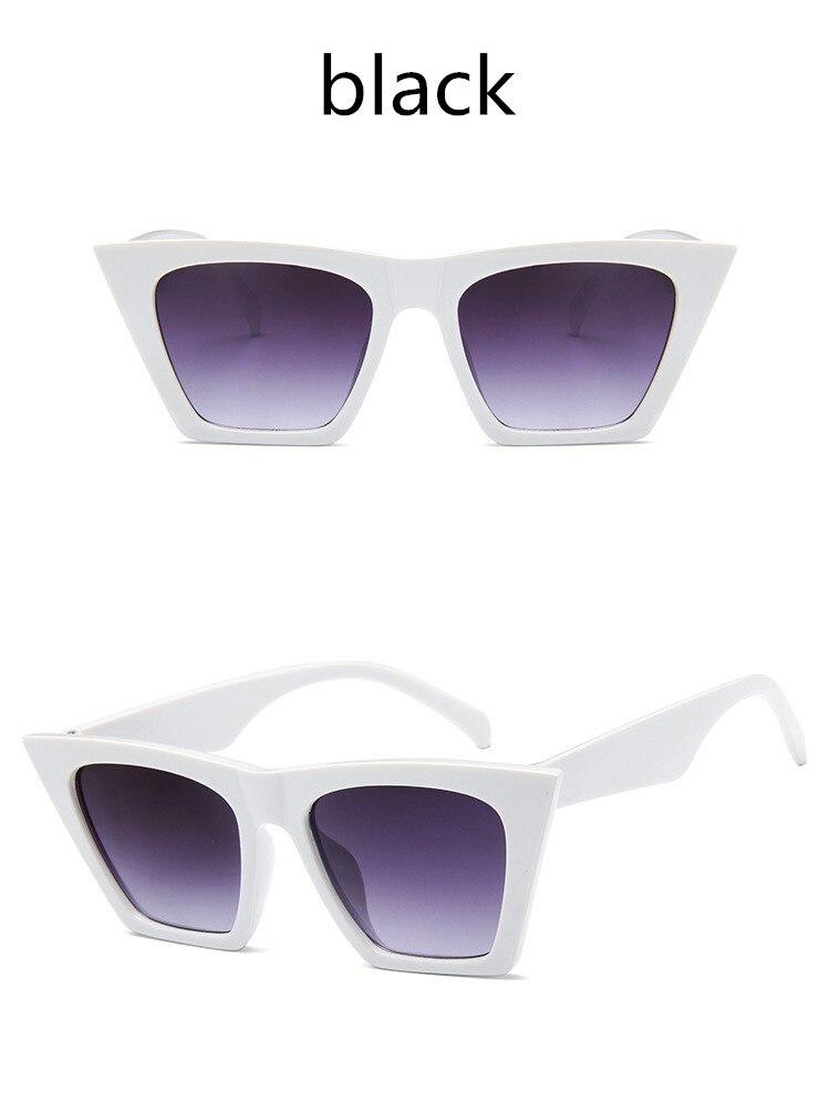 ASUOP2018 New ladies retro cat eye glasses high-end brand travel fashion men's sunglasses sports square UV400 transparent sunglasses (13)