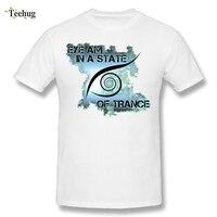 Yeni Streetwear Boy Bir Devlet Trance T-shirt O-Boyun Tasarım Tee Gömlek Saf Pamuk Tees 3D Boya Tee gömlek