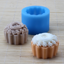 Silicone Soap Mold 3D Ice Cream Shape Chocolate Candy Mould Handmade Cake Cupcake Molds Tool