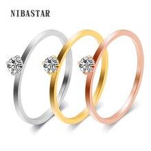 0bc53be9ae29 Anillos de boda de Zirconia cúbica italiana joyería de mujer anillo de  compromiso de Color oro rosa mujer Anel Bijoux regalos de.